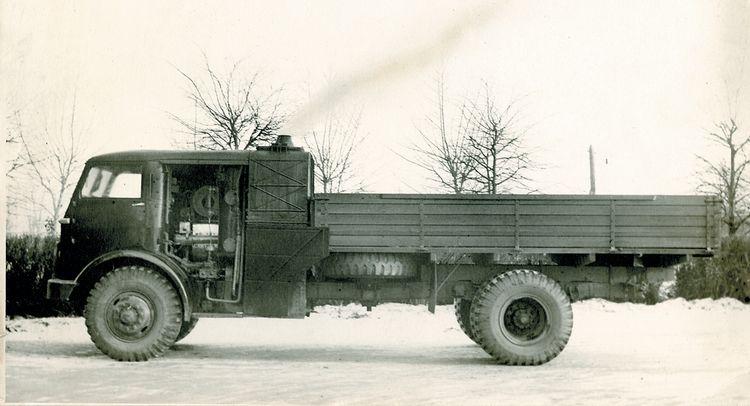 Грузовик НАМИ-012, с паровым двигателем. СССР, 1954 г